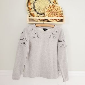 Textured cutout pullover